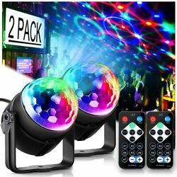 2x Disco Party Lights Strobe Led Dj Ball Sound Activated Bulb Dance Stage Lamp