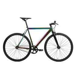 Golden Cycles 700c Fixie Fixed Gear Track alloy Frame Neo Chrome :51 55 59 63cm