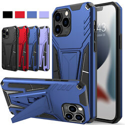 For iPhone 13 Pro Max,Mini 5G Phone Case Shockproof Kickstand Hard Armor Cover