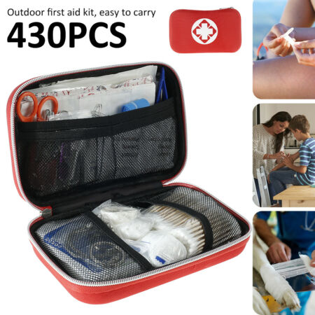 img-430 PCS FIRST AID KIT BAG MEDICAL EMERGENCY KIT. TRAVEL HOME CAR TAXI WORKPLACE