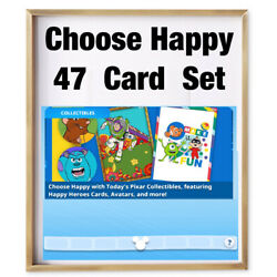 CHOOSE HAPPY COLLECTION-47 CARD SET-TOPPS DISNEY COLLECT