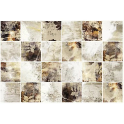 3D Falkirk Retro III 36 in. x 24 in. Gold White Faux Tile PVC Decorative Wall Pa