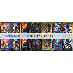Topps Marvel Collect Topps Now Comic Covers September 15 Gold/Silver 14 cards