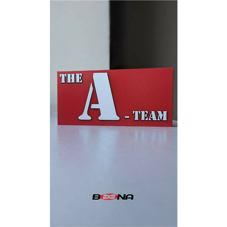 img-Decorative THE A-TEAM self standing logo display