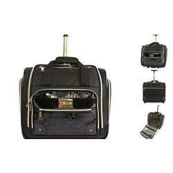 Women's Danielle-Wheeled Under The Seat Carry On Bag, Black Croc, One Size