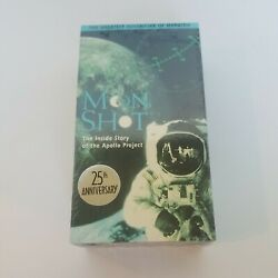Moon Shot The Inside Story of the Apollo Project VHS 2-Tape Set 1994 New Sealed