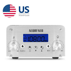 1W/6W Wireless FM Transmitter for Church Drive-in Stereo Radio Station Broadcast