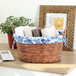 Pioneer Woman Small Oval Blue Floral Maize Baskets set of 3