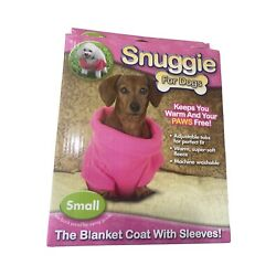 SNUGGIE FOR DOGS, Keeps your Puppy Warm and Paws Free, Pink Size Small, NEW