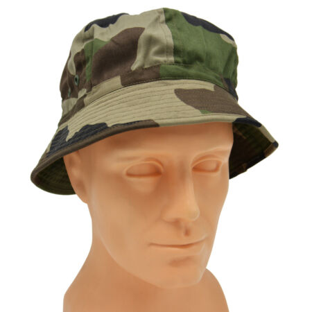 img-French Army Foreign Legion Boonie Cap CCE Camo Jungle Bush Hat Combat Woodland