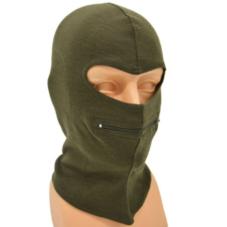 img-Genuine Italian Army Balaclava Face Mask With Zip Cold Weather - NEW - 100% Wool