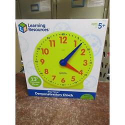 NEW Learning Resources Big Time Demonstration Clock, Teaching Clock, 12 Hour