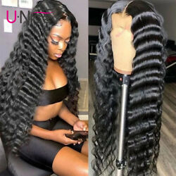 Brazilian Loose Deep Wave Lace Front Human Hair Wigs Pre Plucked with Baby Hair