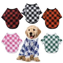 6pc plaid Dog outfit