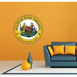 West Virginia State Seal USA Wall Room Garage Decor Sticker Decal 22''X22''