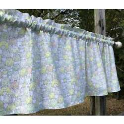 Frogs All Over on White Country Froggy Frog Handcrafted Curtain Valance