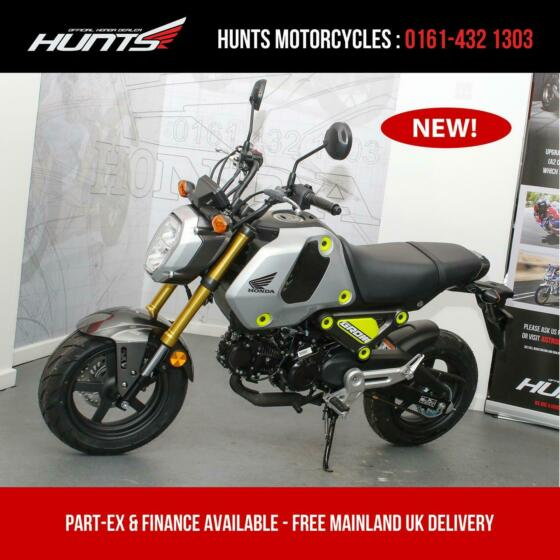 IN STOCK NOW: New 2021 Honda MSX125 Grom (Silver). £3,499 On The Road