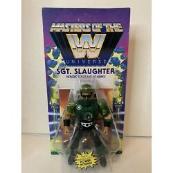 Sgt. Slaughter 6'' Figure Masters of the WWE Universe (MOTU Style) In Hand 2021