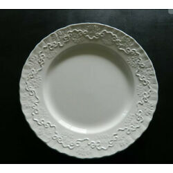 RALPH LAUREN CHINA WEDGWOOD CLAIRE DINNER PLATE 10 3/4'' EMBOSSED RIBBONS BOWS