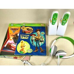 Lot LEAPFROG Tag Learn to Read 3 Books, 2 Pens & Holders, 1 Pair Headphones