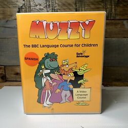 BBC Muzzy Spanish Level 1 Early Advantage Language Course For Children VHS/Tapes