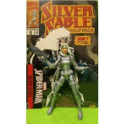 Marvel Legends SILVER SABLE from KING PIN BAF + SILVER SABLE ( 1994  ) # 20 !!!