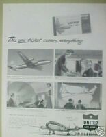 """1949 United Airlines/Airplane/Aircraft Promo""""TICKET"""" AD"""
