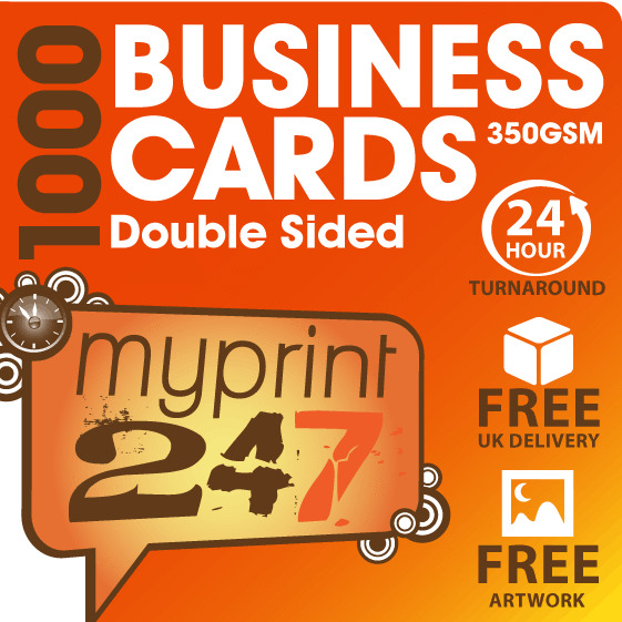 1 000 FULL COLOUR DOUBLE SIDED BUSINESS CARDS 350gsm