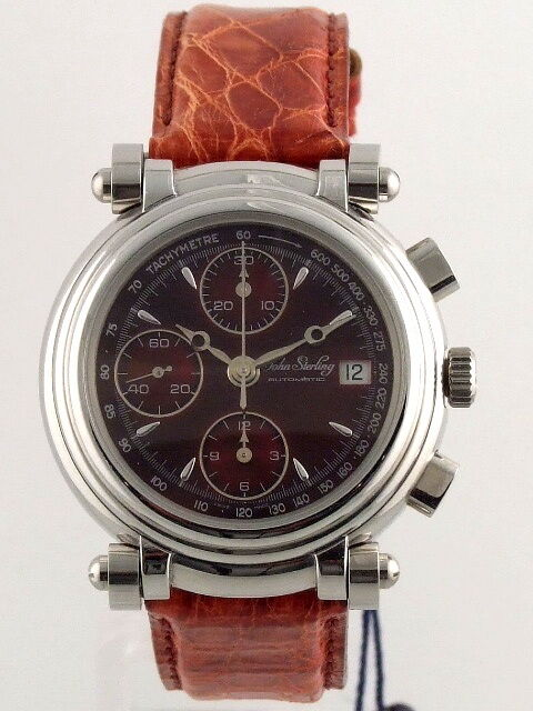 John sterling chrono automatic movement valjoux 7750 men 39 s watch ebay for Auto movement watches