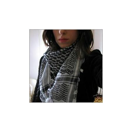 img-COOL BLACK SHEMAGH DOGTOOTH SCARF revolution protest bn