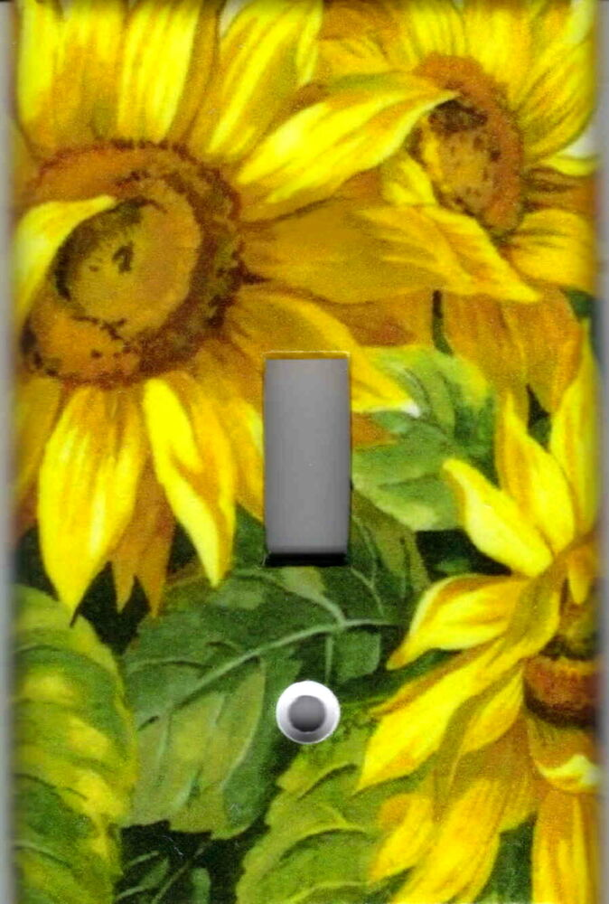 Sunflowers Kitchen Home Decor Single Light Switch Plate
