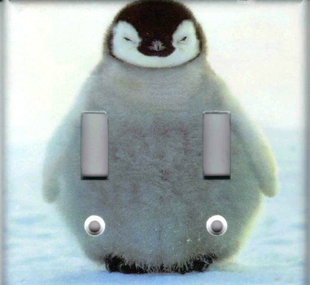 Baby Penguin Home Wall Decor Double Light Switch Plate Cover Ebay