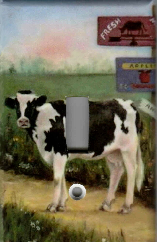 Farm Cow Home Wall Decor Single Light Switch Plate Cover