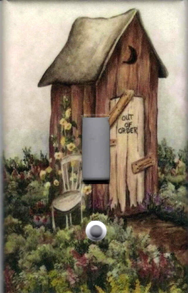 outhouse 2 outhouse home decor single light switch. Black Bedroom Furniture Sets. Home Design Ideas