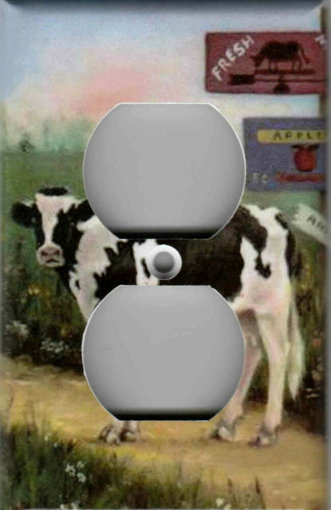 farm cow home wall decor outlet cover ebay