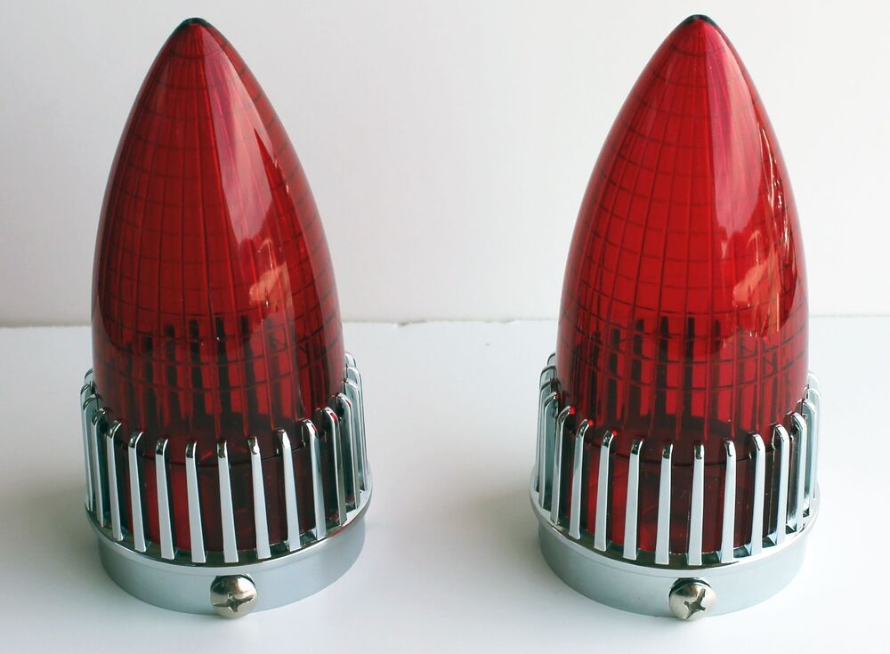 1959 Cadillac Tail Lights : Pair cadillac rat rod red tail lights caddy new