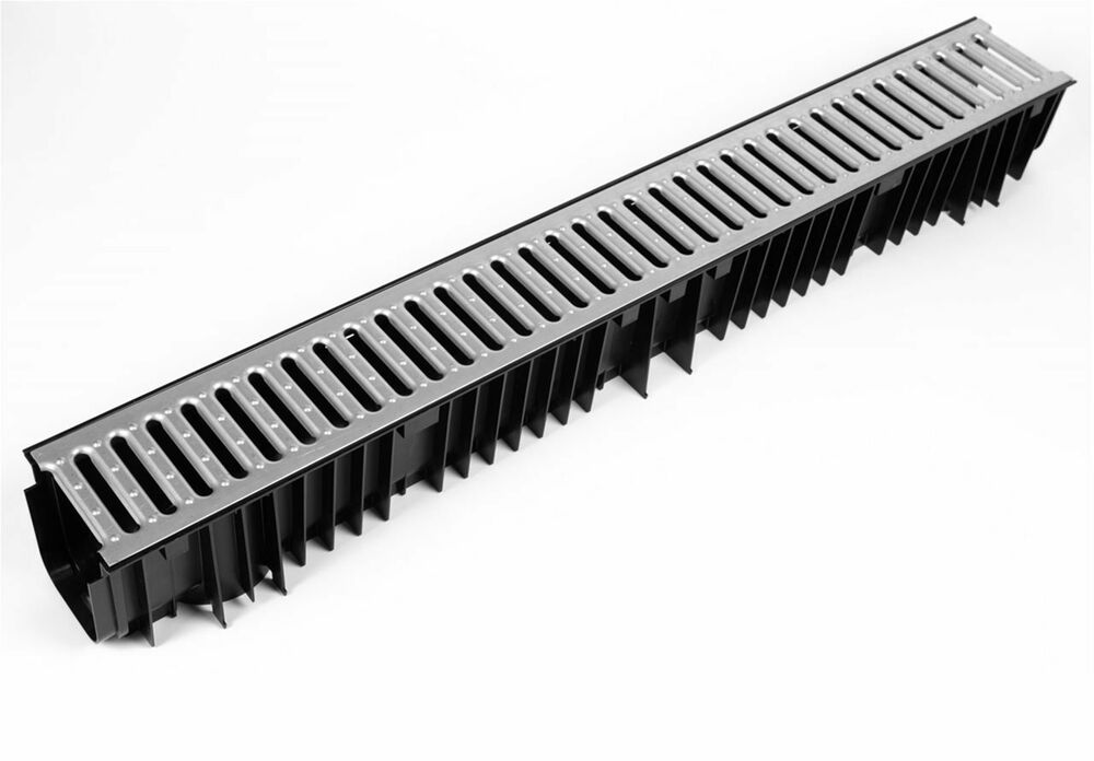 1m Plastic Drainage Channel With Metal Grate Ebay