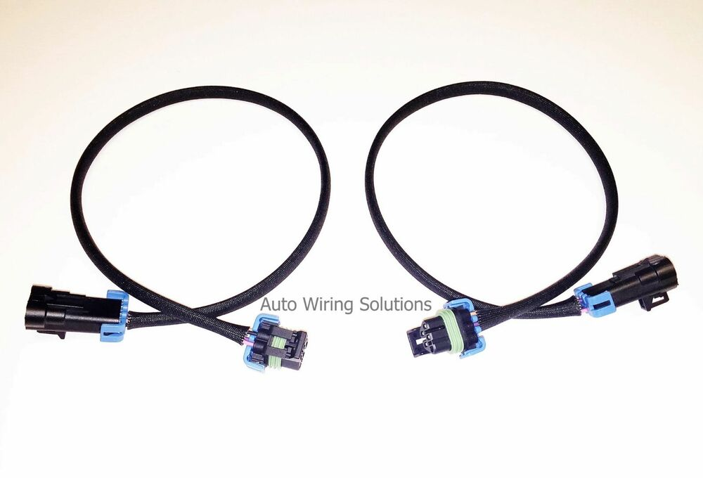 high temperature o2 oxygen sensor extension set 2 front c6 rh ebay com Auto Wire Harness Simple Auto Wiring Diagram