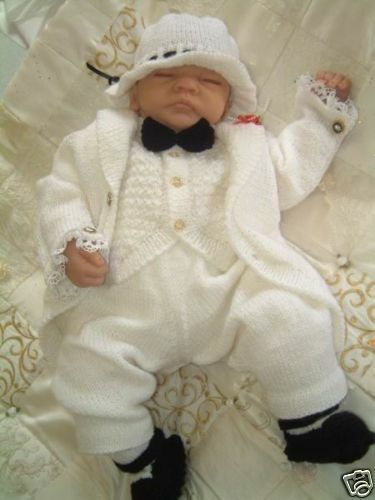 Knitting Patterns For Neonatal Babies : KNITTING PATTERN** TAIL COAT SUIT**FOR NEWBORN BABY BOY eBay