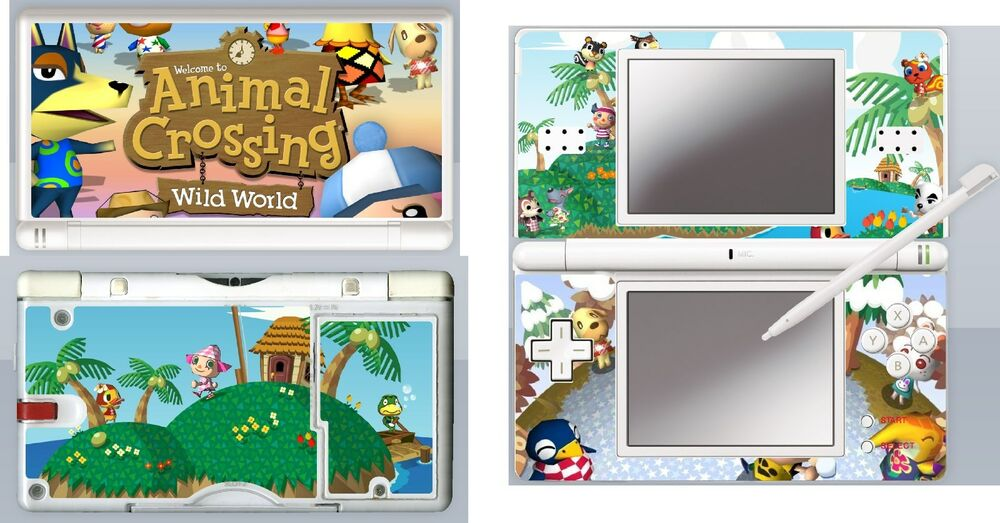 nintendo ds lite animal crossing 4 piece decal sticker. Black Bedroom Furniture Sets. Home Design Ideas