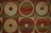 CONTEMPORARY CHENILLE CIRCLES UPHOLSTERY FABRIC 2 YDS