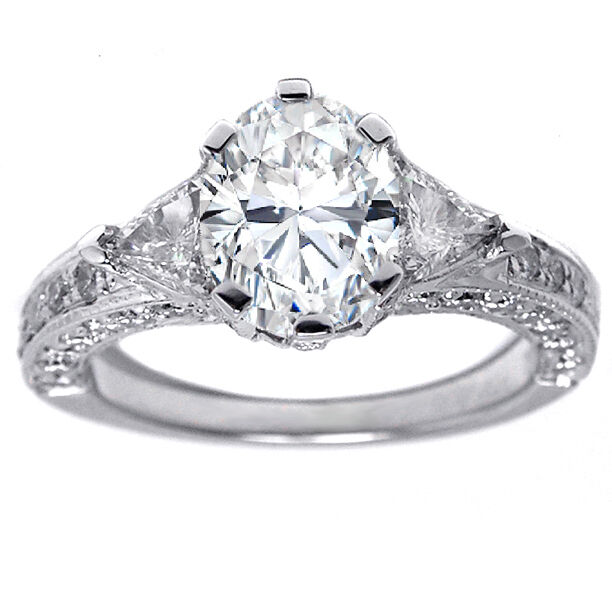 2 16 Carat Oval Diamond Engagement Ring F GIA certified