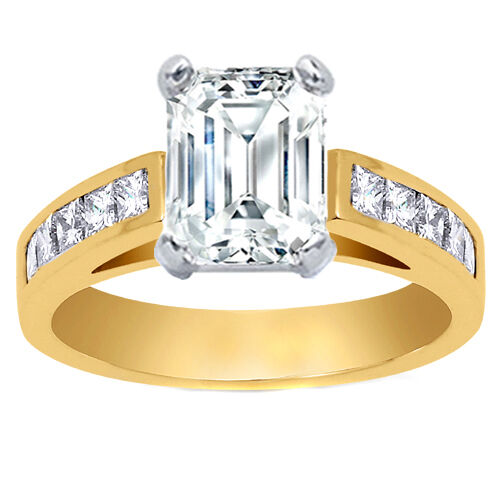 Carat Emerald Cut Diamond Engagement Ring VS EBay