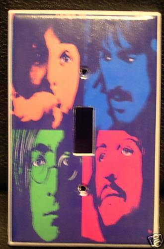 The Beatles Light Switch Cover Rock Amp Roll Unique Look Ebay