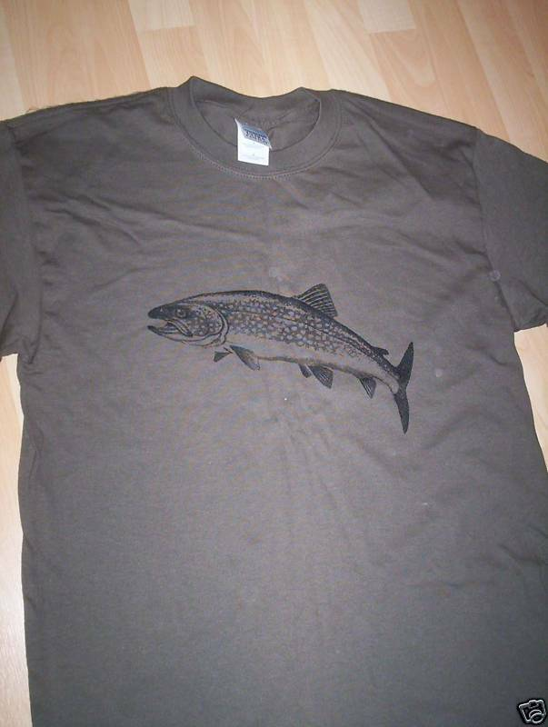 Trout fly fishing t shirt all sizes brand new ebay for Fishing t shirts brands