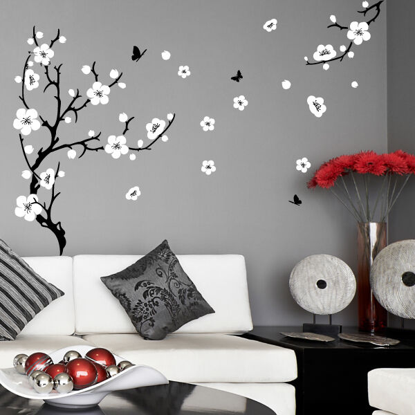Plum Blossom Tree Wall Stickers Vinyl Art Decals Ebay