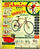 1964 Schwinn~Twinn~Sting~Ray~Typhoon~Racer~Varsity Boys Bikes Kids Bicycle AD