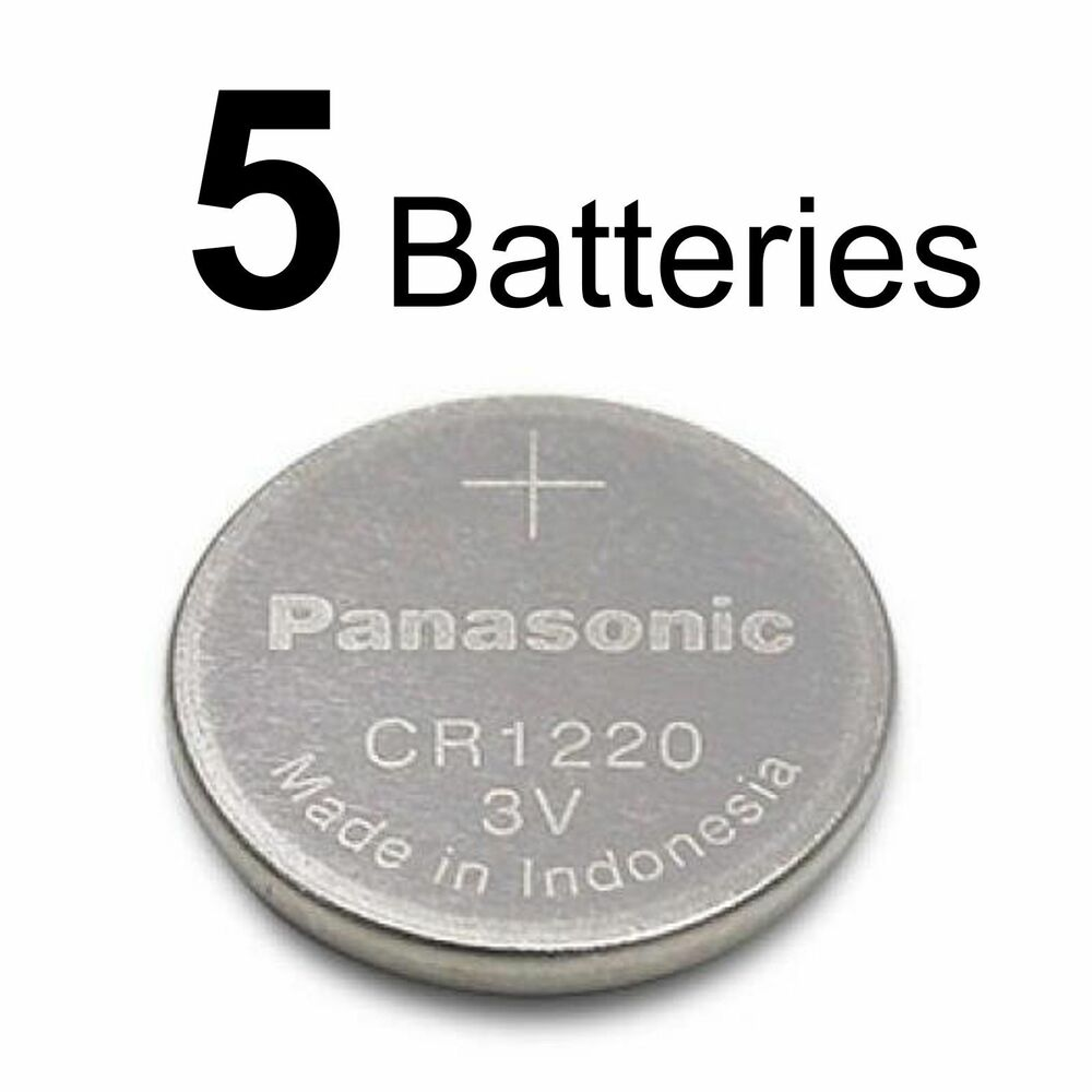 5 panasonic cr1220 cr 1220 3v lithium battery ebay. Black Bedroom Furniture Sets. Home Design Ideas