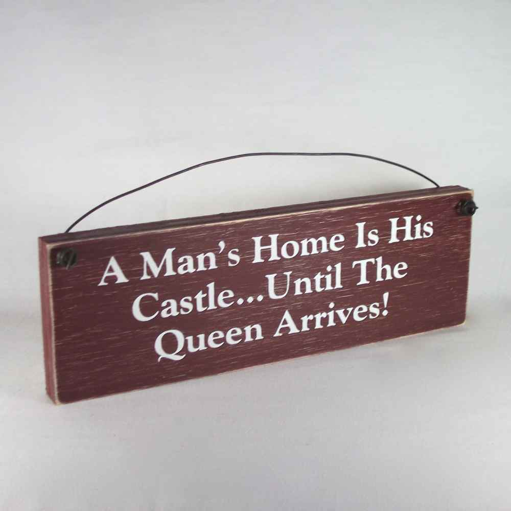 funny signs country home decor man s home castle queen ebay funny home decor flowerpot flower bee garden school kids