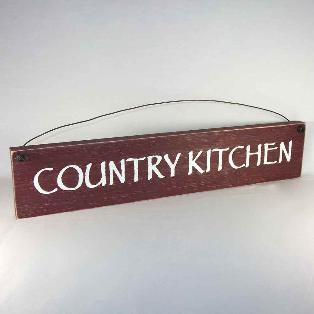 COUNTRY KITCHEN Rustic Wood Farmhouse Style Sign ASSORTED